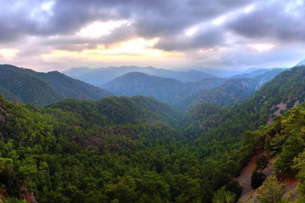 View from Troodos mountain